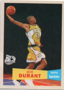 2007-08 Topps  Durant, Kevin - 1957-58 Variations