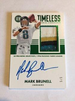 2017 Panini Encased Timeless Materials Signature Emerald Brunell