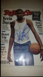 2016  Rolling Stones Magazine Kevin Durant IP Autograph