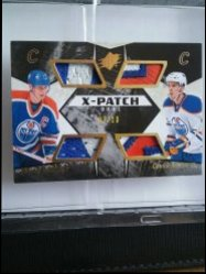 2015-16 Upper Deck SPX first Gretzky and Mcdavid card Wayne Gretzky and Connor Mcdavid quad patch 7/10