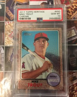 2017 Topps Heritage Chrome Mike Trout
