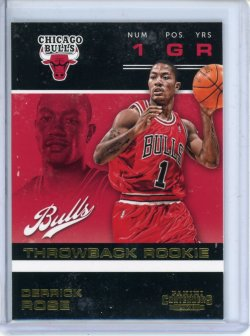 2012-13 Panini Contenders Derrick Rose Throwback Rookie