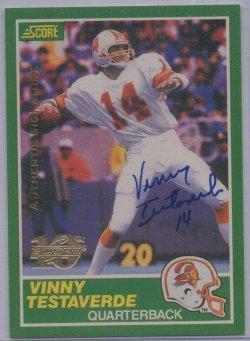 1999 Score 10th Anniversary Reprints Autographs Vinny Testaverde
