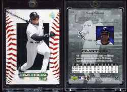 2000  Upper Deck Ovation Standing Ovation Frank Thomas