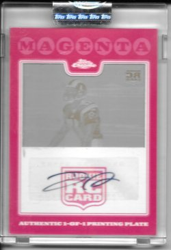 2008 Topps Chrome Magenta Autograph Printing Plate - Donnie Avery
