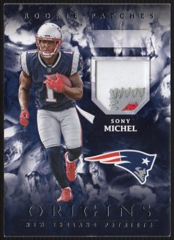 2018 Panini Origins Rookie Patches Sony Michel