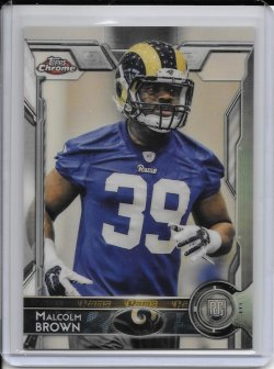 2015 Topps Chrome Superfractor Malcolm Brown