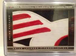 2012 Panini Limited Brian Johnson Jumbo USA Patch /25