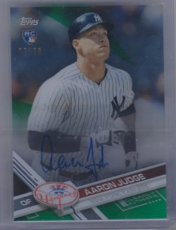 2017 Topps clearly authentic judge