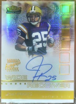 2002 Topps Finest Josh Reed auto gold refractor