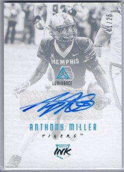 2018 Panini Luminanace Anthony Miller Rookie Ink Platinum Blue