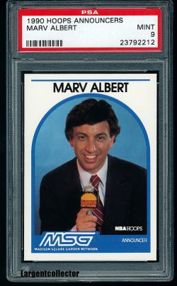 1990  Hoops Announcers Marv Albert