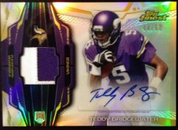 2014  Topps Finest  Teddy Bridgewater Patch Auto
