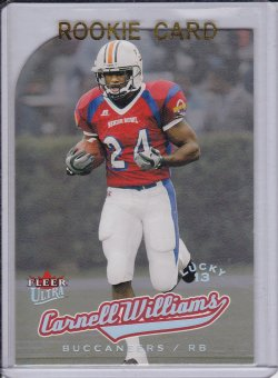 Carnell �Cadillac� Williams 2005 Ultra Lucky 13 Platinum Medallion RC /13