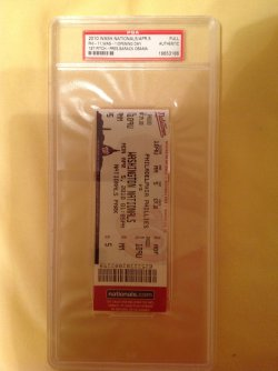 2010  Washington Nationals Opening Day Ticket 1st Pitch - President Obama