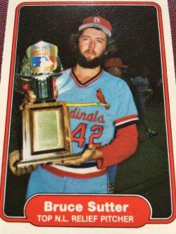 1982 Fleer TOP NL Relief Pitcher  BRUCE SUTTER #631 St.Louis Cardinal Cub Brave AllStar RHP