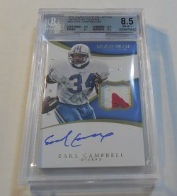 2015 Panini Immaculate Collection Earl Campbell patch autograph