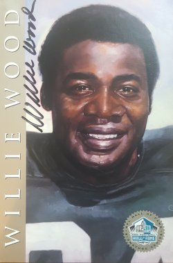 Ron Mix Willie Wood 4x6 Hall of Fame Auto