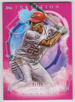 2019 Topps inception pink juan soto