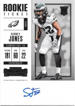 2017 Panini Contenders Rookie Ticket Autographs Sidney Jones