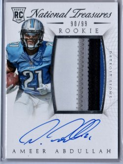 2015  National Treasures Ameer Abdullah