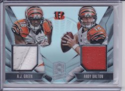 A.J. Green and Andy Dalton 2013 Panini Spectra Combo Materials /99