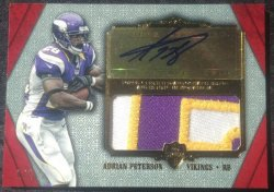 2012  Supreme Adrian Peterson Jumbo Patch Auto