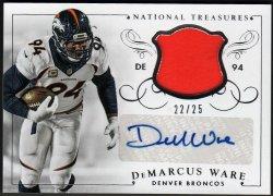 2015   DeMarcus Ware 2015 National Treasures Silver Parallel JSY Auto /25