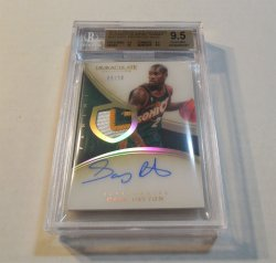 2013/14 Panini Immaculate Collection Gary Payton acetate patch auto
