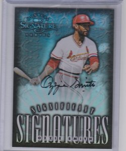 1998 Donruss significant signatures refractor ozzie smith