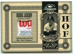 2005 Donruss Timeless Treasures Reggie Jackson HOF Laundry Tag