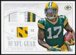2014 Panini National Treasures Rookie NFL Gear Triple Materials Prime  Davante Adams