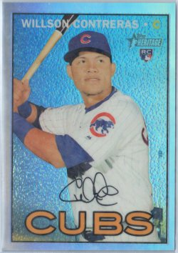 2016 Topps Heritage High Number Chrome Refractor Willson Contreras