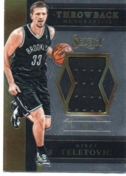 2017-18 Panini Select Teletovic, Mirza - Throwback Memorabilia