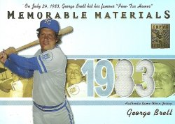 2002 Topps Tribute Memorable Materials