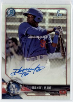 2018 Ibandel Isabel Bowman Chrome 1st Bowman Refractor On-Card Auto RC 441/499  Dodgers #CPA-II 21C442
