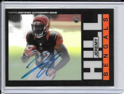 2014 Topps Chrome 1985 Refractor Autograph - Jeremy Hill