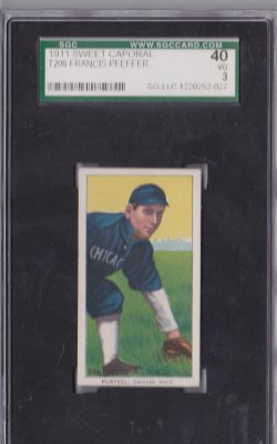 1909  T206 Sweet Caporal 350 Francis Pfeffer