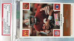 1988  McDonalds  Joe Montana - - Gold/Orange