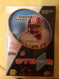 1996 Topps Cybrcard CD-Rom Trading Card Darrell Green #27
