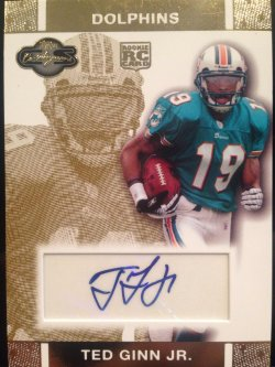 2007 Topps Co-Signers Ted Ginn Jr. Rookie auto
