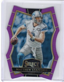 2016 Panini Select-Purpe Die Cut Matthew Stafford