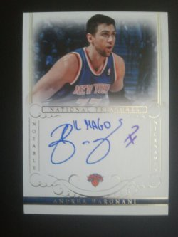 2013-14  National Treasures Notable Nicknames #NN-AB Andrea Bargnani