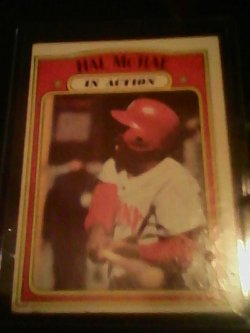 72 Topps In action Hal mcrae