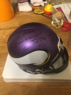 Sam Bradford Signed Personalized Mini Helmet