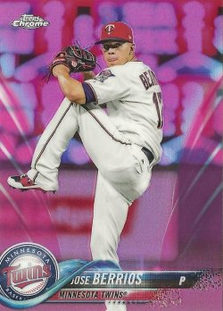 2018 Topps Chrome Pink Refractor Jose Berrios