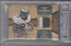 2011 Topps Five Star  Rookie Patch Auto Mark Ingram