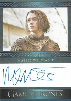 2017  Rittenhouse Game of Thrones Season 6 Autographs Blue  Maisie Williams as Arya Stark