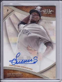 Luis Severino 2017 Topps Tier One Break Out Autographs /90