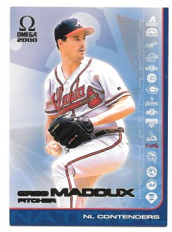 2000  Pacific NL Contenders Greg Maddux